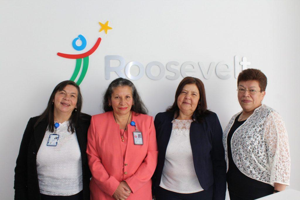 De Izq a Der: Yolanda Cárdenas; Miriam Parra; Myriam Novoa y Mercedes Martinez.
