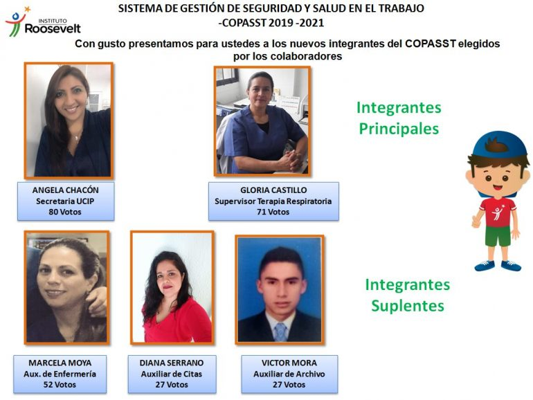 Ganadores de las elecciones del COPASST 2019